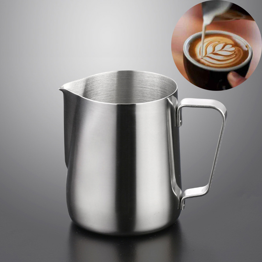 Stainless Steel Milk Jug Milk Pitcher For Coffee Barista   Espresso Craft Latte  Frothing  Kitchen