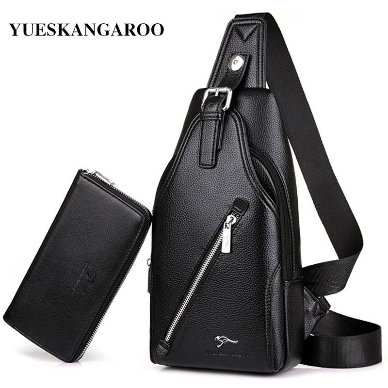 YUES KANGAROO Brand Messenger bag Single Chest Bag Leather Men Crossbody Bags Rucksack Waist Pack leisure business Shoulder Bag yues kangaroo brand men bag leather casual high quality shoulder crossbody bags classical business briefcase mens messenger bag