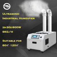 Ultrasonic Industrial Humidifier 9KG/H Double Spray Mouth ZS 30Z Humidity Setting Computer Control Sprayer Atomizer For Factory