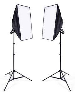 Image 3 - Набор софтбоксов для фотостудии, 8 светодиодов, 24 Вт, 2 штатива
