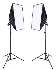 Image 3 - استوديو الصور سوفت بوكس كيت 8 LED 24 واط طقم الإضاءة التصوير الفوتوغرافي كاميرا وصور الملحقات 2 ضوء موقف 2 سوفت بوكس للصور الكاميرا