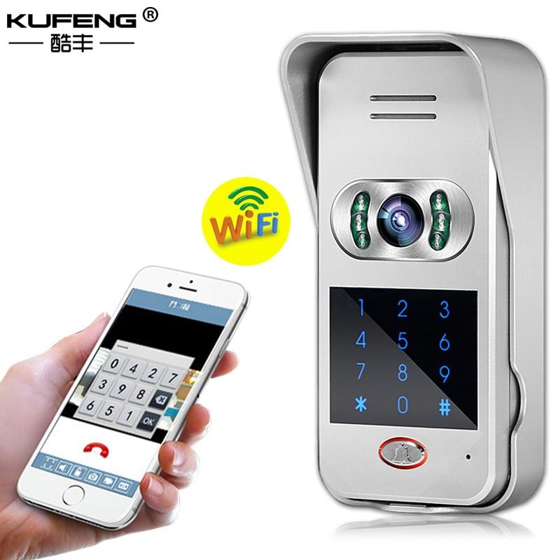 2017 New Hot sale Smart Wifi Ip Camera Doorbell Intercom Wireless Doorbell IOS Android phone security alarm system FREE SHIPPING цена 2017