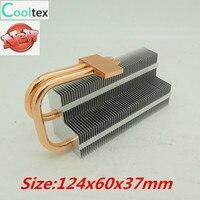 2014 New DIY Double Heatpipe Heatsink For Chip CPU GPU VGA RAM LED IC Heat Sink