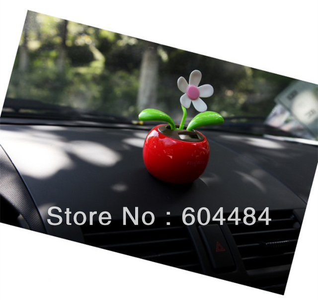 1PC/lot Solar Powered Swing Solar Flower Magic Cute Flip Flap Plant Swing Solar Toy Free shipping SL-60006