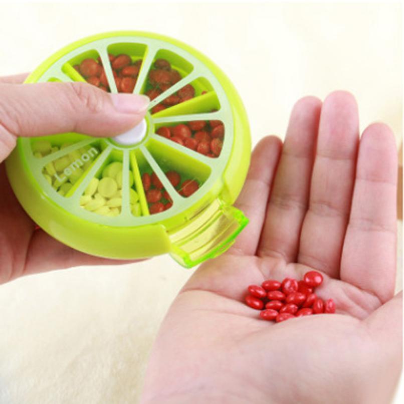 Новый Портативный фруктов Ротари Печать 7 Сетка Коробка для хранения