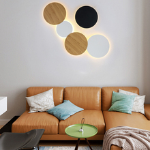 Modern Creative eclipse LED ceiling lamp Combinable engineering background round Ceiling Light for bedroom bedside stairs aisle
