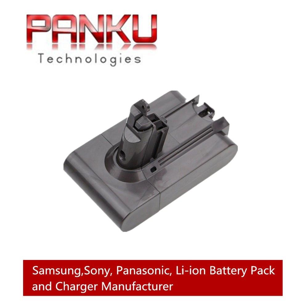 buy panku replacement 21 6v 2 2ah li ion battery for dyson v6 dc58 dc59 dc61. Black Bedroom Furniture Sets. Home Design Ideas