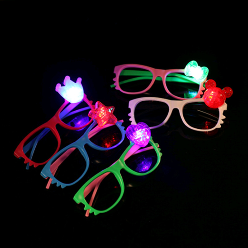 New arrival 24pcs/lot cat led glasses flashing glasses stall toy goods LED glass party decoration LED toy