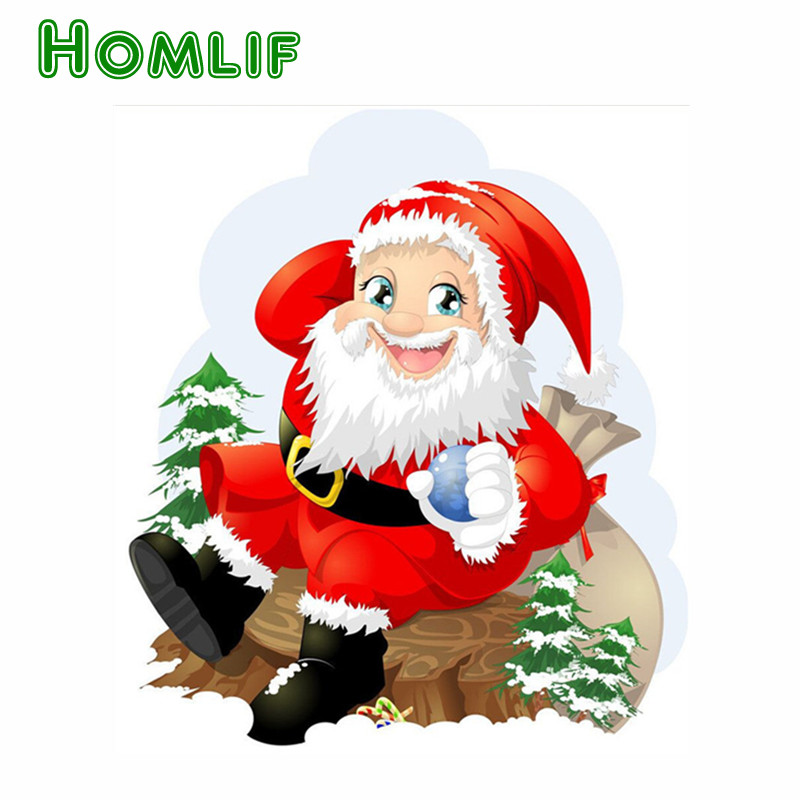 Full Square Drill Custom Diamond Painting Cartoon Santa
