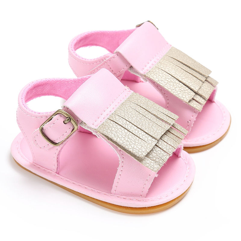 Baby Girls First Walkers Tassel Soft Non-slip Crib Shoes Moccasin 0-18M baby boy sandals