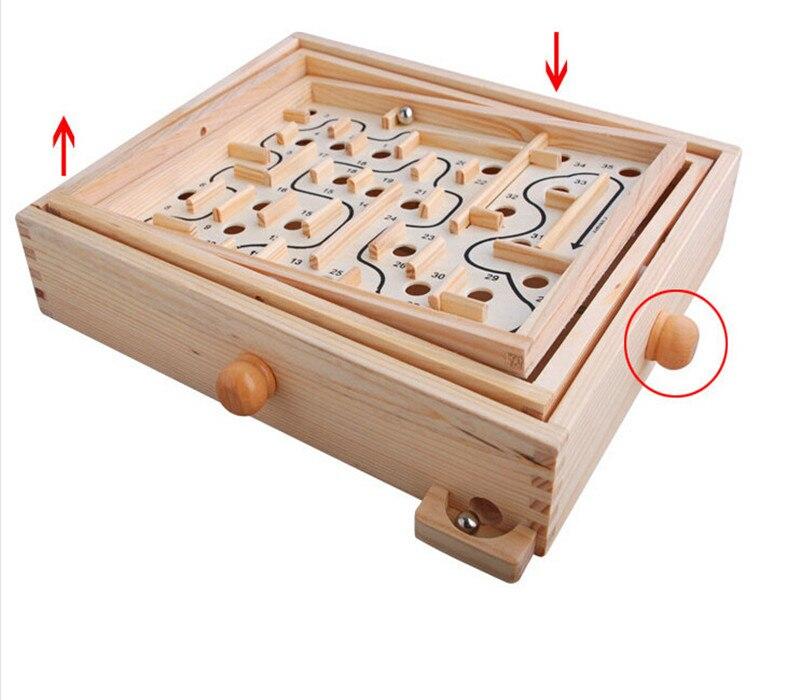 Juguete de madera nuevo Labyrinth intelectual de la mano el juego del - Educación y entrenamiento - foto 3