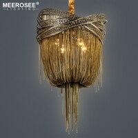 Бронза Алюминий люстра итальянский кисточкой дизайн цепь люстры висячие лампы освещения для гостиной фойе