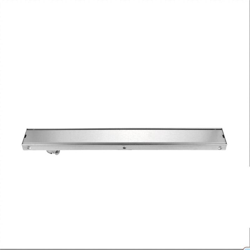 60 cm/80 cm/100 cm Drain de sol 304 SUS brossé crépine de salle de bain vente chaude intégrée installer