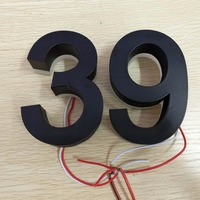 Custom Outdoor Stainless Steel Backlit Led House Number Letters