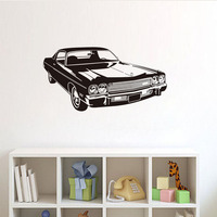Super Class Sport Automotive Vinyl Wall Stickers Removable Home Decor Impressive Racing Cars Living Room Sofa Hollow Out Design