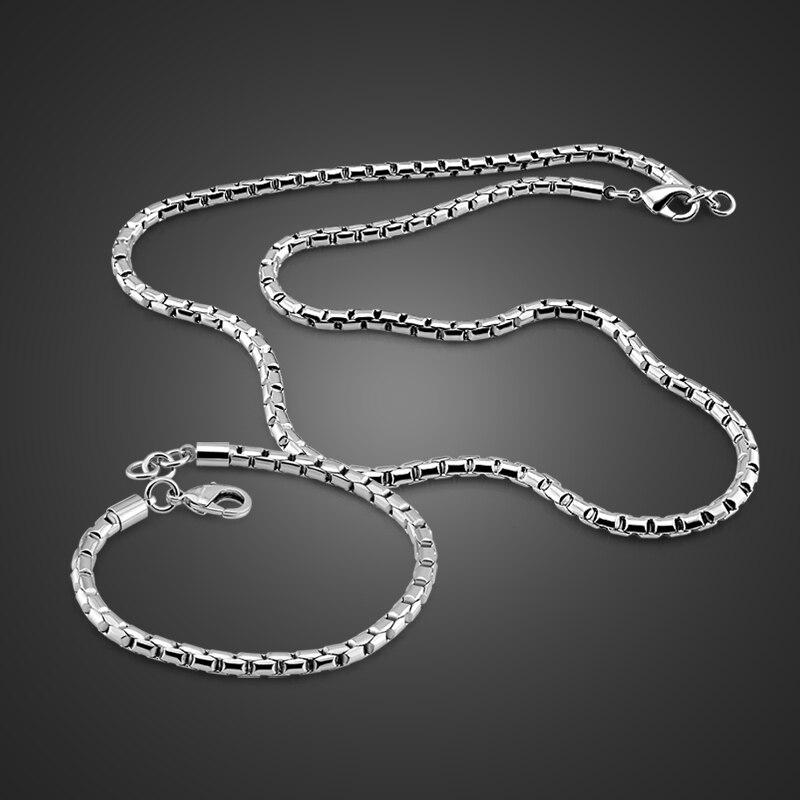 Nouveau-né 6 MM chaîne 51 cm collier 19 cm bracelet ensemble spécial serrure 925 standard argent route côté chaîne hommes/garçon bijoux en argent
