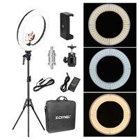 Набор светодиодных осветительных колец для макияжа, осветительная лампа для камеры с подставкой для видеосъемки, студийный смартфон Youtuber