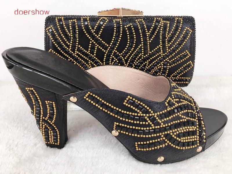 Haute Pour Chaussures Les Africain Doershow Sacs Assortis Avec Set 46 Correspondant Qualité Lady Match Hlu1 Et À Parti Sac wqpB7w1XAx