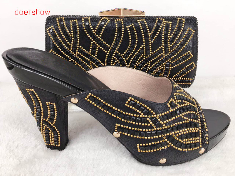 doershow Shoes with Matching bags For party african Shoes And Bags to match set high quality lady matching shoe and bag Hlu1-46 doershow italian shoes with matching bags for party shoes and bags to match set high quality lady matching shoes and bag hzo1 10