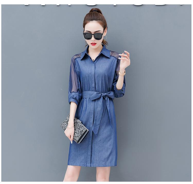 Dress female spring and autumn 2019 new fashion commuter slim strapless denim dress tide vestido Q280 10