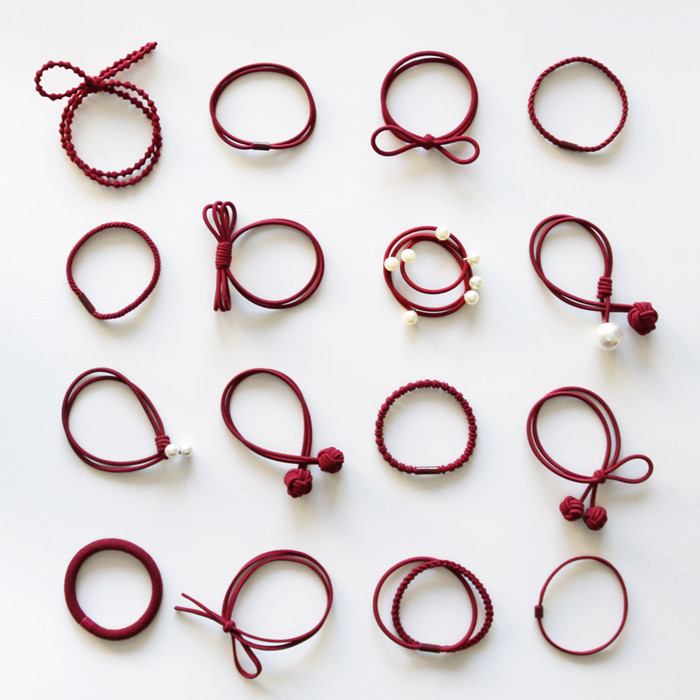 16pcs 2017 New Fashion Elastic Hairband Women Hair Accessories Girls Bands Children Knot Rope Hair Tips On Sale