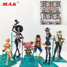 Hot Toys 6pcs/lot 5-12CM PVC Japanese Anime Figure One Piece Q version Action Figure Collectible Model Toys Brinquedos with Box 6pcs lot trolls poppy branch biggie action figure toys cartoon moive brinquedos dreamworks trolls hug time poppy figure doll toy