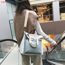 Casual Crossbody Bags For Women Pink Shoulder Messenger Panelled Black Female Bucket Bag Canvas Ladies Handbags and Purses