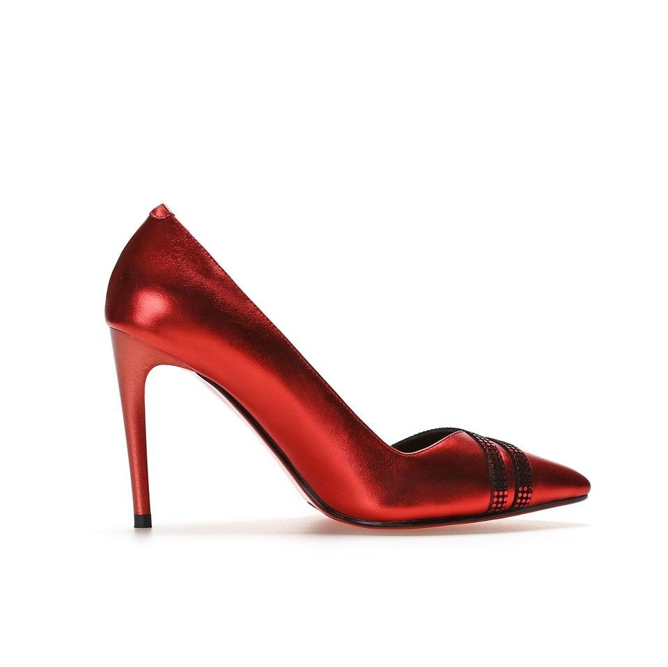 Pompes En Dames Sexy Partie De rouge Robe Chaussures Hauts Talons Talon Rose Femmes Maguidern Haute Cuir argent nkOX0wPZN8