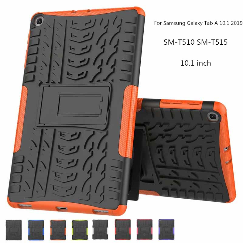 Shockproof Heavy Duty Silicon <font><b>Cases</b></font> Silicone + hard shell Cover Protective shell For <font><b>Samsung</b></font> Tab A 10.1 2019 <font><b>T510</b></font> T515 + pen image