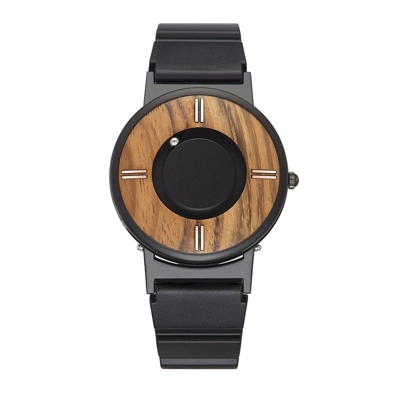 Nouveau cadran en bois surface croisée à la mode luxe hommes couple quartz montre de loisirs