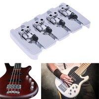 1pcs Metal Bass Bridge L Shape 4 String Saddles Bridge For Electric Bass Instrument Accessories Silver