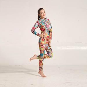 Image 3 - Hisea traje de neopreno con estampado para mujer, traje de neopreno de 3mm, costura de color, equipo de buceo, ropa de medusas de manga larga, ajustado