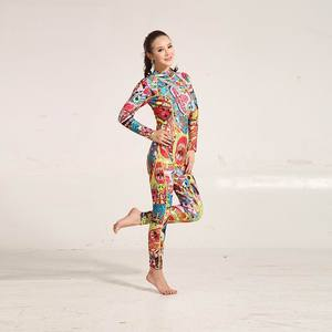Image 3 - Hiseme 3 мм Женский неопреновый гидрокостюм с цветной строчкой, оборудование для серфинга и дайвинга, одежда с Медузой и длинными рукавами