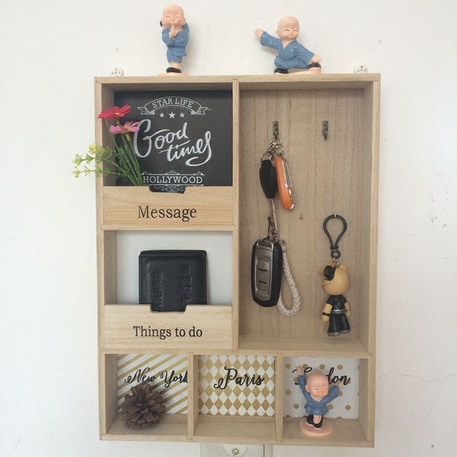 Vintage Home Key Storage Box Door Hanging Wall Entrance Porch Home  Decorations Wall Art Hook Grocery