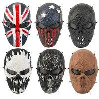 Kamuflaj Avcılık Aksesuarları Maskeleri Phantom Askeri Taktik Açık Wargame CS Paintball Airsoft Kafatası Parti Maskesi Tam Yüz