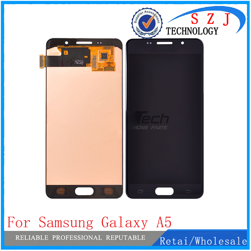 New case For Samsung Galaxy A5 A510 2016 Lcd Screen Display with Digitizer Touch Assembly For Samsung Galaxy A5 2016 A510F new tested lcd for samsung galaxy e5 e5000 e500 screen display with touch digitizer tools assembly 1 piece free shipping