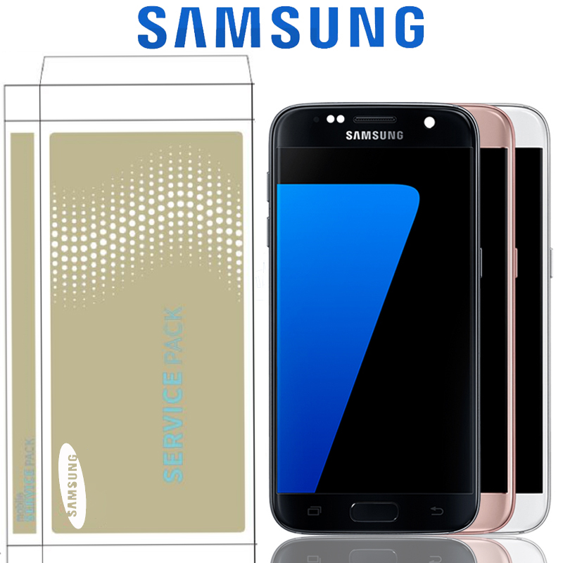 5 1 Burn Shadow LCD With Frame For SAMSUNG Galaxy S7 Display G930 G930F Touch Screen