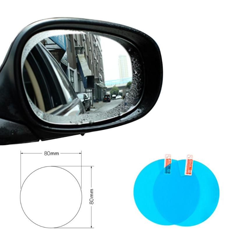 2pcs Car Rearview Mirror Side Window Film Waterproof Anti-Fog Rain-Proof Protective Car Sticker Car Mirror Window Clear
