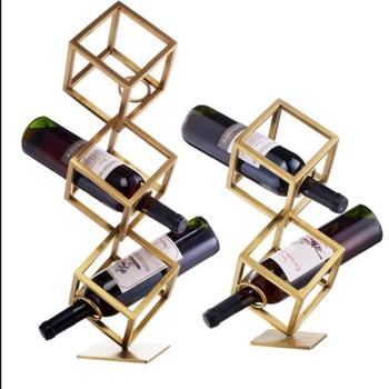 Creative Wine Rack, Metal Decoration, Metal Cube Wine Rack, Wine Holder 15X15X15, 45, 65CM