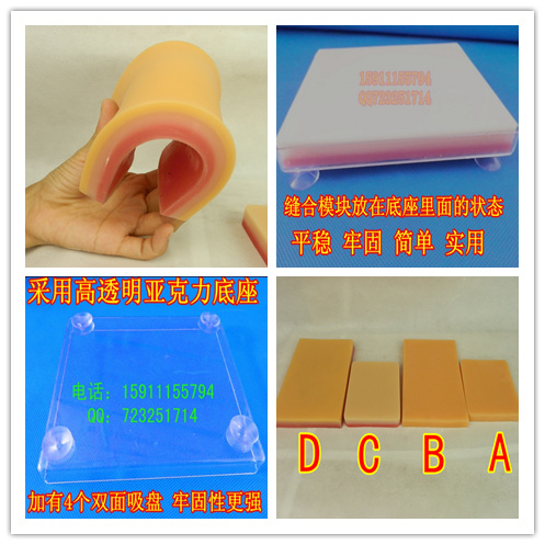Silica Gel Skin Suture Exercise Module Surgical Skin Suture Exercise Model Human Skin Suture Model Module C SizeSilica Gel Skin Suture Exercise Module Surgical Skin Suture Exercise Model Human Skin Suture Model Module C Size