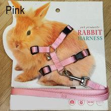 Recentemente pet coelho arnês macio trela corda de tração coelho ajustável para correr andando te889