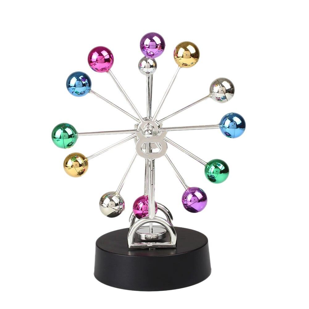 Colorful Ferris Wheel Newtons Cradle Steel Balance Balls Physics Pendulum Timeless Swing Office Furniture Desk Ornaments