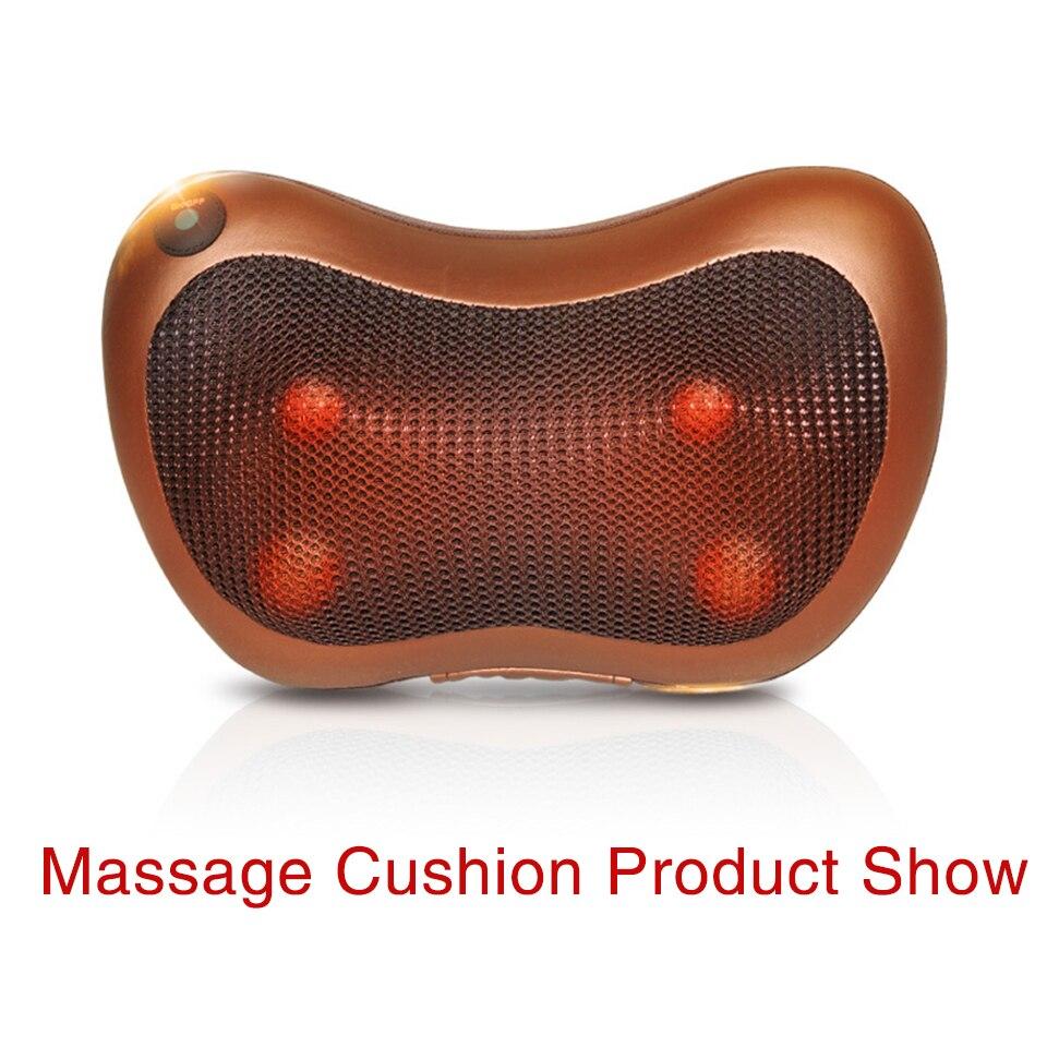 все цены на Home car dual-use multifunction dish massager car massage pillow cervical lumbar leg massager Infrared Heating body massager онлайн