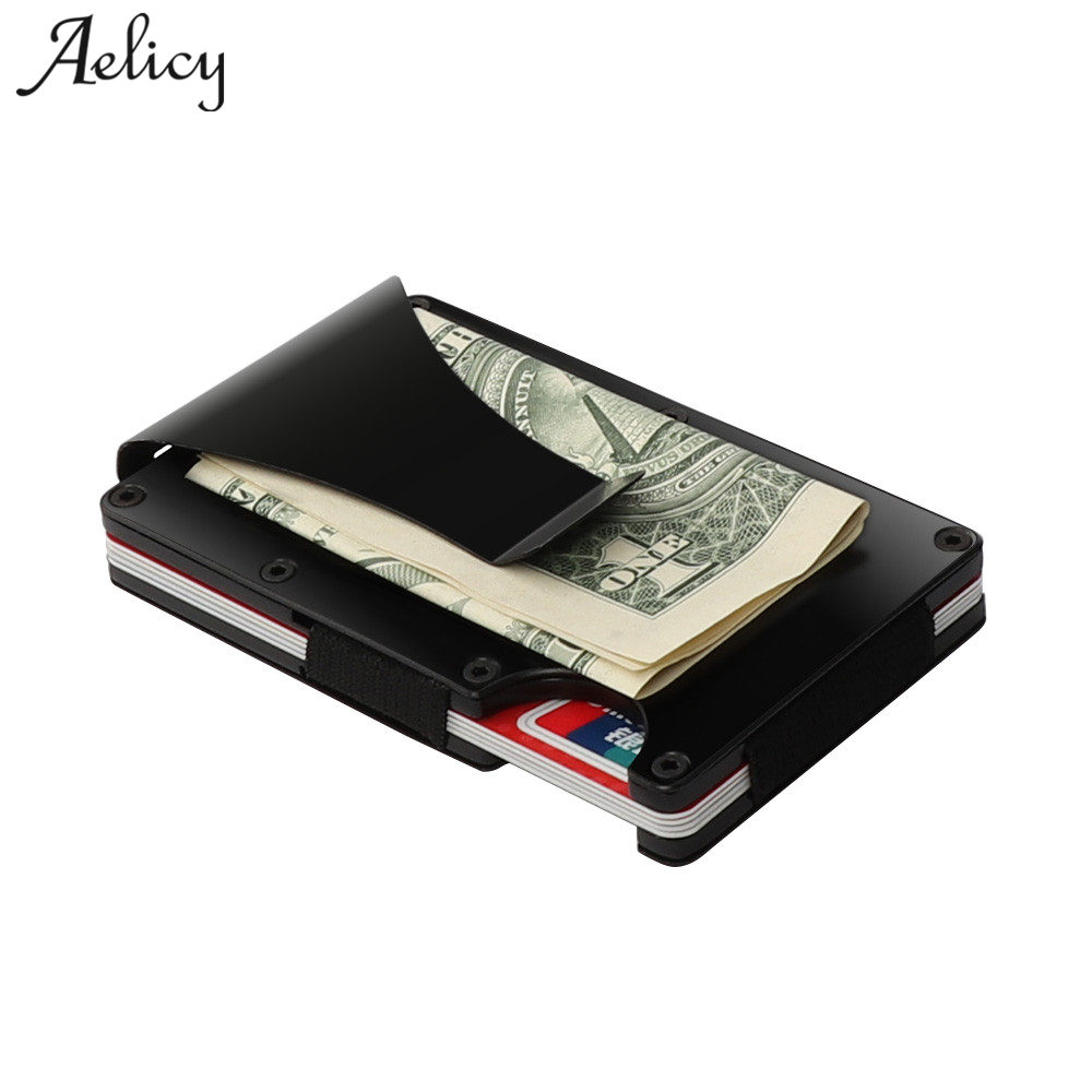 Aelicy Metal Mini Money Clip Brand Fashion Male Wallet High quality Men Wallet Money Clip Coin Pocket Solid Card ID Holder A high quality men s wallet new men mini zipper leather credit card id coin holder money clip wallet monedero hombre