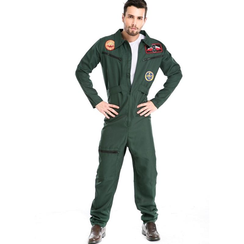 Piloot kostuum heren Aviator Wingman Jumpsuit vliegpak volwassen - Carnavalskostuums