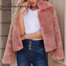 Fashion Luxury Fluffy Rabbit Women Winter Collarless Long Sleeve Covered Button V-neck Fur Jackets Overcoat Short Coat 2C0062 цены