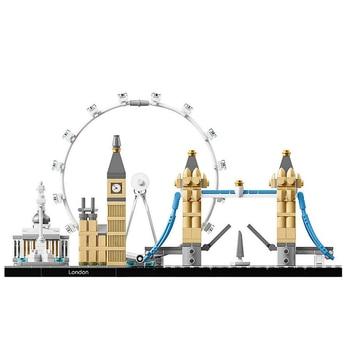 468PCS Bela 10678 Fit Legoness Architecture London 21034 Set Eye Big Ben Tower Bridge Building Block Bricks Toys Christmas Gifts 21035 lego