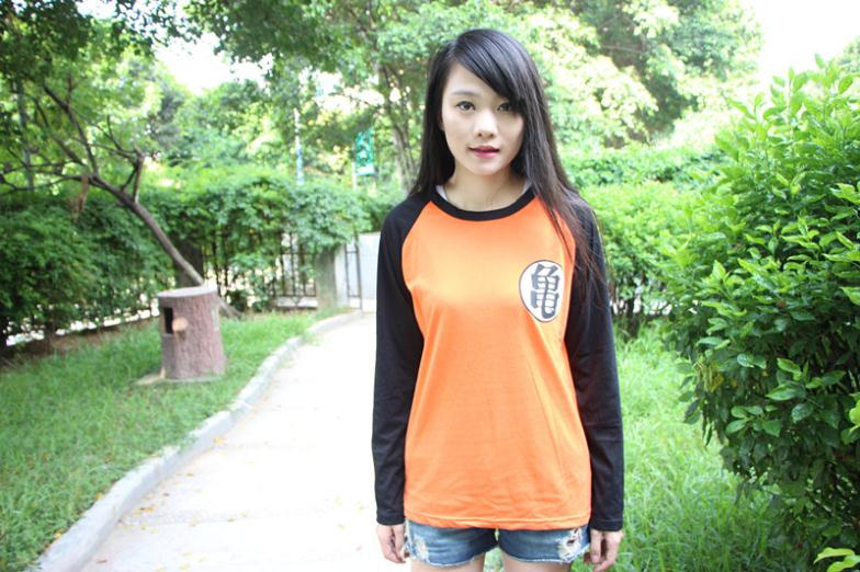 Adults Autumn T-shirt Tops Long Sleeve Tees Orange   Anime Dragon Ball Tees Unisex  for Sale 2014