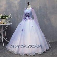 83b3b89591 Venta caliente Lila vestido de Quinceanera vestidos 2019 Prom largo vestido  de encaje flor con cuentas