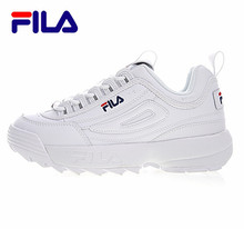 2018 FILAS Disruptor II 2 Men and Women Sneaker Running Shoes White summer Increased Outdoor Sneaker size 36-44(China)